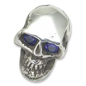 STANLEY GUESS(スタンリーゲス):Stick Pin/Large Skull w/Sapphire Eyes(スティックピン/ラージスカルw/サファイアアイズ)|chrono925