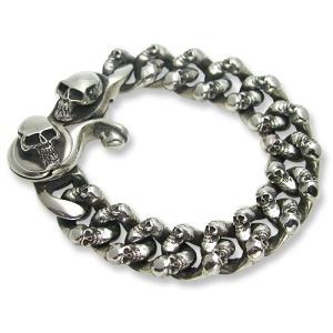 STANLEY GUESS(スタンリーゲス):Extra Fancy Skull Link w/Skull Classic Clip Bracelet(エクストラファンシースカルリンクw/スカルクリップブレスレット)|chrono925