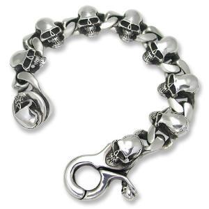 STANLEY GUESS(スタンリーゲス):Skull Link w/Skull Classic Clip Bracelet(スカルリンクw/スカルクラシッククリップブレスレット)|chrono925