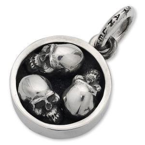 STANLEY GUESS(スタンリーゲス):Round Multi Skull Pendant(ラウンドマルチスカルペンダント)|chrono925
