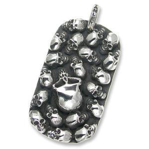 STANLEY GUESS(スタンリーゲス):2 Sided Multi Skull/Multi Logo Dog Tag/Large(2サイドマルチスカル/マルチロゴドッグタグ/ラージ)|chrono925