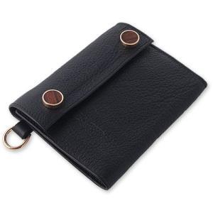 STANLEY GUESS(スタンリーゲス):14K Brown Gold 2 Wood Button Wallet w/Plain D Ring(14Kブラウンゴールド2ウッドボタンウォレットw/プレーンDリング)|chrono925