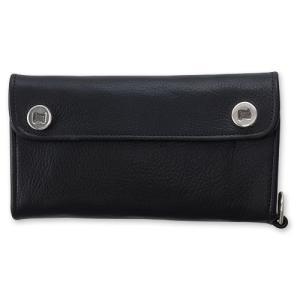 STANLEY GUESS:Long 2 Logo Button w/Snap Flap Pocket Wallet w/Plain D Ring(ロング2ロゴボタンウォレットw/スナップフラットポケットw/プレーンDリング)|chrono925