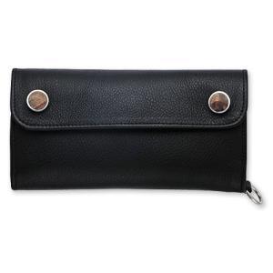STANLEY GUESS:Long 2 Wood Button w/Snap Flap Pocket Wallet w/Plain D Ring(ロング2ウッドボタンウォレットw/スナップフラットポケットw/プレーンDリング)|chrono925