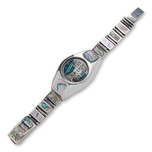 Shell/Silver Watch Case w/Short&Narrow Links Multi Shell Box Clip(シェル/シルバーウォッチケースw/ショート&ナローリンクマルチシェルクリップ)|chrono925