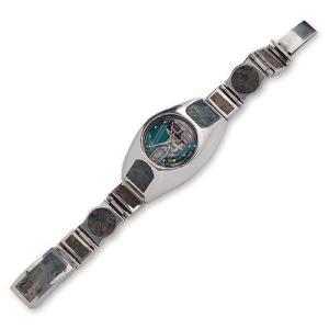 Wood/Silver Watch Case Short Narrow&Round Wood Links w/Wood Inlaid Box Clip(ウッド/シルバーウォッチケースショートナロー&ラウンドw/ウッドクリップ)|chrono925