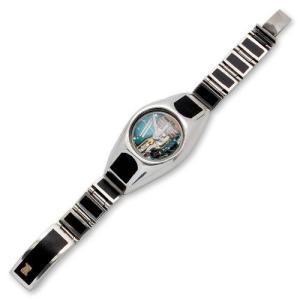 Wood/Silver Watch Case Short&Narrow w/Wood Box Clip w/Gold Logo(ウッド/シルバーウォッチケースショート&ナローw/ウッドクリップw/ゴールドロゴ)|chrono925