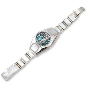 Shell/Silver Watch Case w/Short&Narrow Links Shell Inlaid Box Clip(シェル/シルバーウォッチケースw/ショート&ナローリンクシェルボックスクリップ)|chrono925