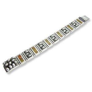 Wide&Narrow 5Skull/6Wood Link w/Multi Skull Clip Bracelet w/Stone(ワイド&ナロー5スカル/6ウッドリンクw/マルチスカルクリップブレスレットw/ストーン)|chrono925