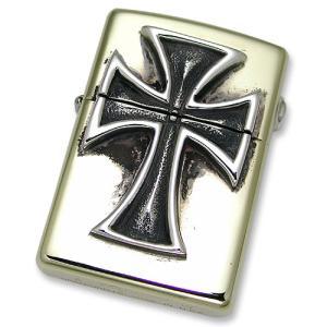 TRAVIS WALKER/DOUBLE CROSS(トラヴィスワーカー/ダブルクロス):Brass Zippo w/Crusader Cross(ブラスジッポw/クルセイダークロス)|chrono925