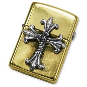 TRAVIS WALKER/DOUBLE CROSS(トラヴィスワーカー/ダブルクロス):Brass Zippo w/Double Cross(ブラスジッポw/ダブルクロス)|chrono925