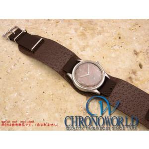 時計ベルト バンド Phoenix社製 NATO軍G10 正規ストラップ 英国製ブラウン RAFパイロット仕様 アテ付 18mm 腕時計 フェニックス|chronoworldjapan