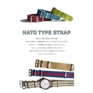 腕時計 ベルト 時計 バンド NATOタイプ NATO type ナイロンストラップ 18mm20mm22mm(メ)|chronoworldjapan|02