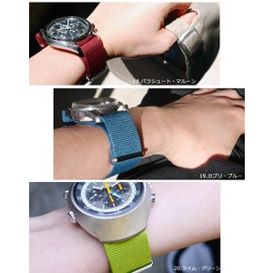 腕時計 ベルト 時計 バンド NATOタイプ NATO type ナイロンストラップ 18mm20mm22mm(メ)|chronoworldjapan|12