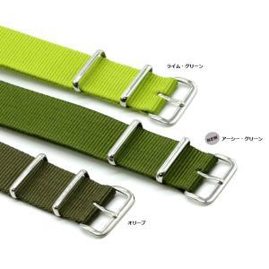 腕時計 ベルト 時計 バンド NATOタイプ NATO type ナイロンストラップ 18mm20mm22mm(メ)|chronoworldjapan|05
