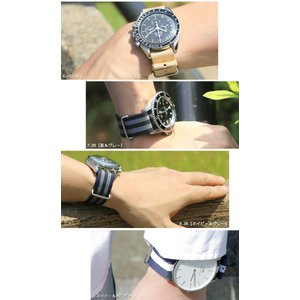 腕時計 ベルト 時計 バンド NATOタイプ NATO type ナイロンストラップ 18mm20mm22mm(メ)|chronoworldjapan|09