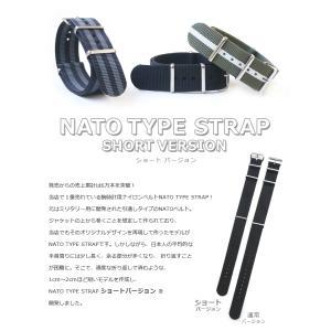 時計 ベルト ショートバージョン NATOタイプ NATO type ナイロンストラップ 18mm20mm22mm(メ)|chronoworldjapan|02