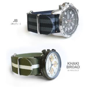 時計 ベルト ショートバージョン NATOタイプ NATO type ナイロンストラップ 18mm20mm22mm(メ)|chronoworldjapan|06