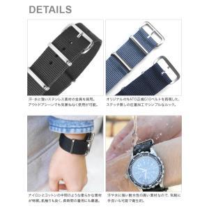 腕時計 ベルト 時計 バンド ショートバージョン NATOタイプ NATO type ナイロンストラップ 18mm20mm22mm(メ)|chronoworldjapan|08