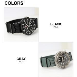 腕時計 ベルト 時計 バンド ブラック尾錠 NATOタイプ NATO type ナイロンストラップ 18mm20mm22mm(メ)|chronoworldjapan|02