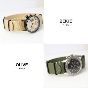 腕時計 ベルト 時計 バンド ブラック尾錠 NATOタイプ NATO type ナイロンストラップ 18mm20mm22mm(メ)|chronoworldjapan|03