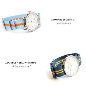 腕時計 ベルト 時計 バンド ディスコンカラー NATOタイプ NATO type ナイロンストラップ 18mm20mm22mm(メ)|chronoworldjapan|03