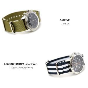 腕時計 ベルト 時計 バンド ディスコンカラー NATOタイプ NATO type ナイロンストラップ 18mm20mm22mm(メ)|chronoworldjapan|04