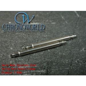 腕時計用品 スイス製1.80mm径ステンレス バネ棒 ばね棒 2本セット (サイズ16.18.19.20.22.23.24mm)(メ)|chronoworldjapan