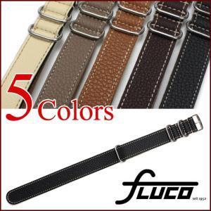 腕時計 ベルト バンド フルーコ・FLUCO NATO Schrumpf NATOシュランク レザー 革 18mm20mm22mm 腕時計(メ)|chronoworldjapan