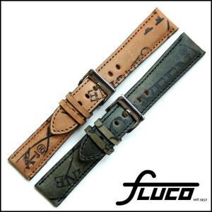 腕時計 ベルト 時計 バンド フルーコ・FLUCO Horween Shell Cordovan Reversed  ホーウィン シェルコードバン リバースド 20mm22mm(メ)|chronoworldjapan