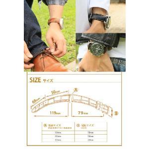 時計ベルト バンド HIRSCH Rivetta ストラクチャード・レザー 革 18mm20mm22mm 腕時計(宅)|chronoworldjapan|03