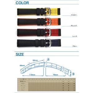 時計ベルト バンド HIRSCH ROBBY / ロビー(300M WR) カーボン 20mm22mm24mm 腕時計(宅)|chronoworldjapan|04