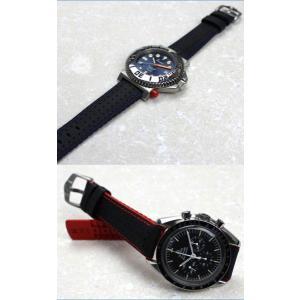 時計ベルト バンド HIRSCH ROBBY / ロビー(300M WR) カーボン 20mm22mm24mm 腕時計(宅)|chronoworldjapan|05