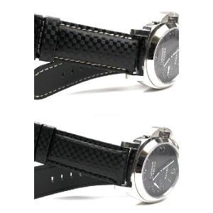 パネライ純正Dバックル装着可能 時計 ベルト バンド  HIRSCH パネライ専用 時計ベルト Carbon カーボン 100m耐水 24/22 26/22 24mm26mm 腕時計(宅)|chronoworldjapan|05