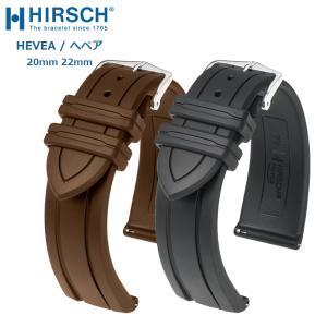 時計ベルト バンド HIRSCH Hevea ヘヴェア プレミアム・ラバー 無限耐水 18mm20mm22mm 腕時計(宅)|chronoworldjapan