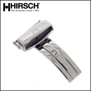 腕時計用 HIRSCH シングル Dバックル シルバー 16.18.20.22mm 時計 ベルト バンド (メ)|chronoworldjapan