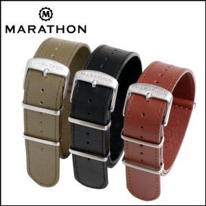 MARATHON Leather NATO Strap マラソン レザーナトーストラップ 腕時計用・時計ベルト・時計バンド 20mm 22mm|chronoworldjapan
