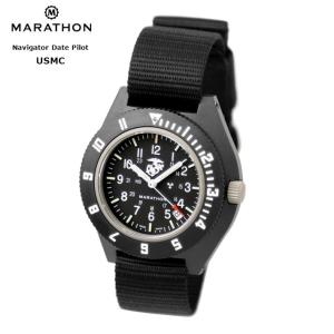 MARATHON Navigator Date USMC US Marine Corps Pilot マラソン ナビゲーター デイト アメリカ海兵隊 パイロット クォーツ WW194013USMC|chronoworldjapan
