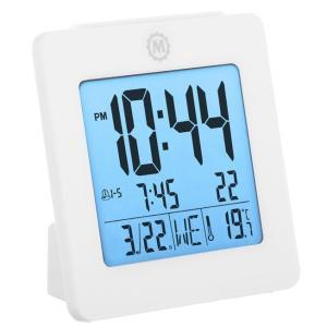 MARATHON デジタル アラームクロック 目覚まし時計 温度計 カレンダー 電池付き CL030050 マラソン|chronoworldjapan