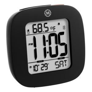 MARATHON コンパクト デジタル アラームクロック 目覚まし時計 温度計 カレンダー 電池付 CL030058 マラソン|chronoworldjapan