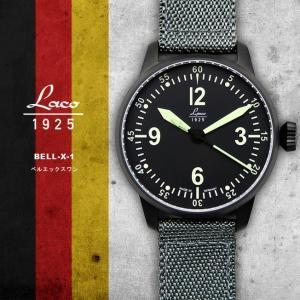 腕時計 メンズ ブランド LACO ラコ 861907 ベルエックスワン BELL-X-1 自動巻き  cwオリジナルストラップ付 ミリタリーウォッチ(宅|chronoworldjapan