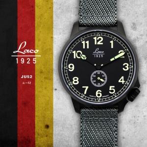 腕時計 メンズ ブランド LACO ラコ 861908 ユー52 JU52 自動巻き  cwオリジナルストラップ付 ミリタリーウォッチ(宅|chronoworldjapan