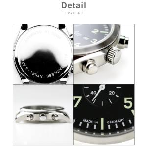 腕時計 メンズ ブランド LACO ラコ 861915 CHRONOGRAPHS クロノグラフ Trier トリーア クォーツ  cwオリジナルストラップ付 ミリタリーウォッチ(宅|chronoworldjapan|03