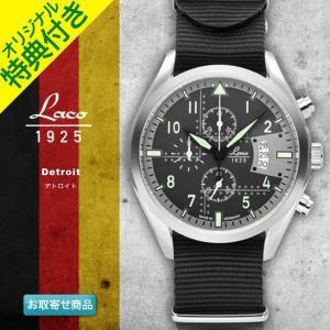 腕時計 メンズ ブランド LACO ラコ 861917 デトロイト Detroit ブラック グリーン ブルー クォーツ クロノグラフウォッチ CHRONOGRAPH WATCH chronoworldjapan