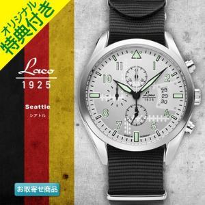 腕時計 メンズ ブランド LACO ラコ 861918 シアトル Seattle ブラック グリーン ブルー クォーツ クロノグラフウォッチ CHRONOGRAPH WATCH|chronoworldjapan|02