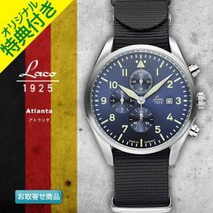 腕時計 メンズ ブランド LACO ラコ 861919 アトランタ Atlanta ブラック グリーン ブルー クォーツ クロノグラフウォッチ CHRONOGRAPH WATCH chronoworldjapan