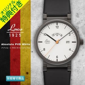 腕時計 メンズ ブランド LACO ラコ 880206 アブソルート PVD ホワイトダイアル Absolute クォーツ アブソルートウォッチ ABSOLUTE WATCH|chronoworldjapan