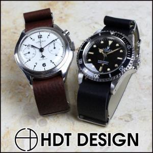 腕時計 ベルト 時計 バンド HDT NATO レザー NATOタイプ 18mm20mm22mm(メ)|chronoworldjapan