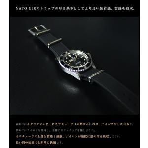 時計 ベルト バンド HDT Evolution ナイロン レザー NATOタイプ 20mm22mm(メ)|chronoworldjapan|02