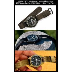 時計ベルト バンド MARATHON US MILスペック ストラップ 16mm20mm22mmエクストラロング(メ)|chronoworldjapan|03
